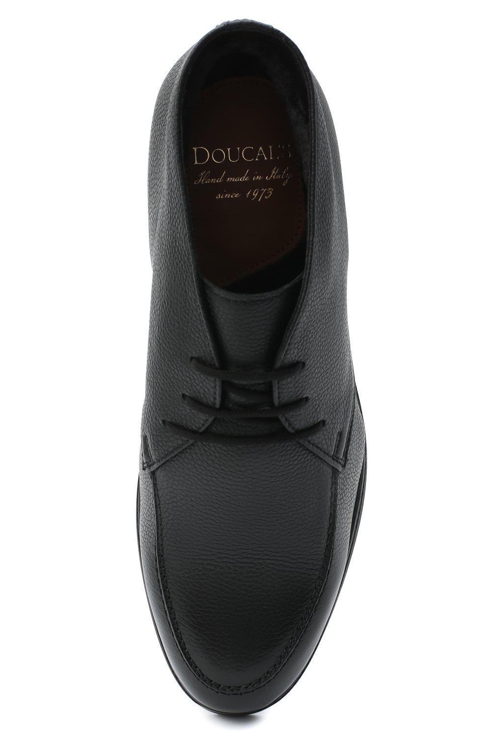 Мужские кожаные ботинки DOUCAL'S черного цвета, арт. DU2713ED0-UM019NN00 | Фото 5