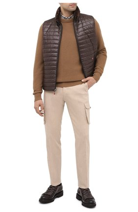 Мужской кожаные дерби DOUCAL'S темно-коричневого цвета, арт. DU2736PHILUF087TM23 | Фото 2