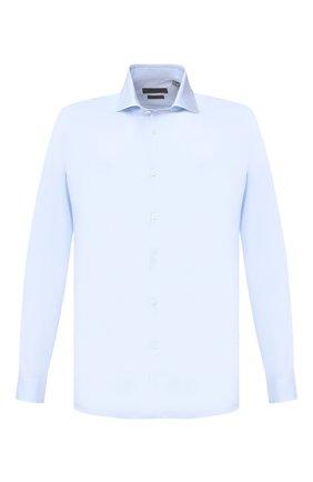 Мужская хлопковая сорочка CORNELIANI голубого цвета, арт. 86P002-0811624/00 | Фото 1