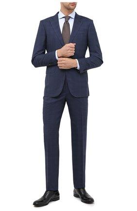 Мужская хлопковая сорочка CORNELIANI голубого цвета, арт. 86P002-0811624/00 | Фото 2