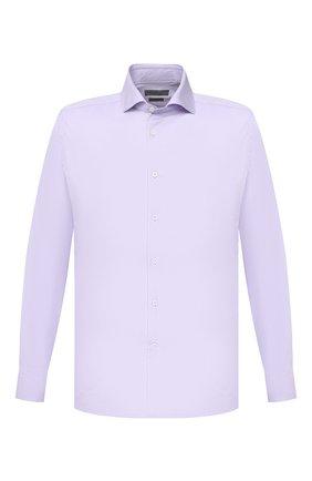 Мужская хлопковая сорочка CORNELIANI сиреневого цвета, арт. 86P002-0811624/00 | Фото 1