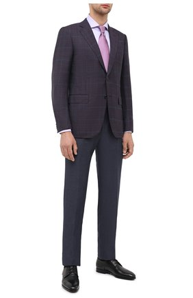 Мужская хлопковая сорочка CORNELIANI сиреневого цвета, арт. 86P002-0811624/00   Фото 2