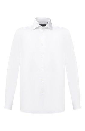Мужская хлопковая сорочка CORNELIANI белого цвета, арт. 86P010-0811264/00 | Фото 1