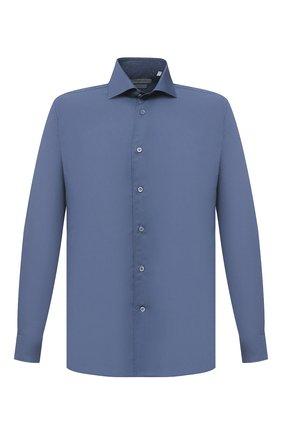 Мужская хлопковая сорочка CORNELIANI синего цвета, арт. 86P010-0811520/00 | Фото 1