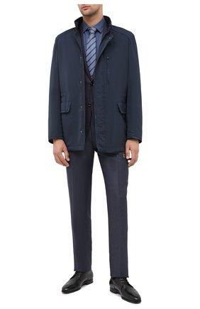 Мужская хлопковая сорочка CORNELIANI синего цвета, арт. 86P010-0811520/00 | Фото 2