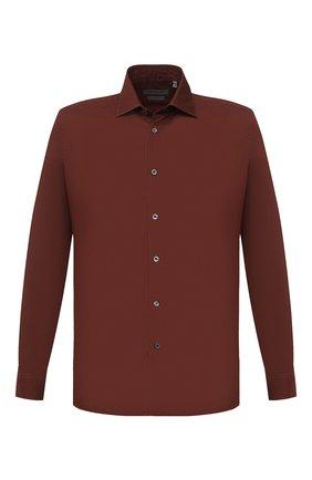 Мужская хлопковая сорочка CORNELIANI коричневого цвета, арт. 86P010-0811520/00 | Фото 1