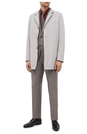 Мужская хлопковая сорочка CORNELIANI коричневого цвета, арт. 86P010-0811520/00 | Фото 2