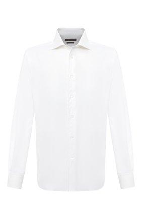 Мужская хлопковая сорочка CORNELIANI белого цвета, арт. 86P100-0811262/00 | Фото 1