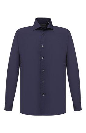 Мужская хлопковая сорочка CORNELIANI темно-синего цвета, арт. 86P100-0811408/00 | Фото 1