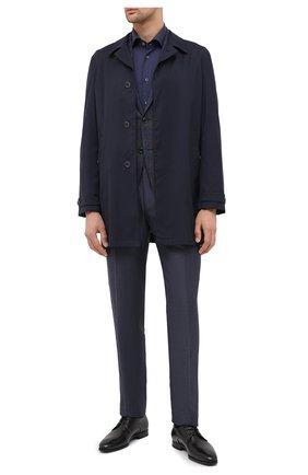 Мужская хлопковая сорочка CORNELIANI темно-синего цвета, арт. 86P100-0811408/00 | Фото 2