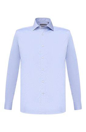 Мужская хлопковая сорочка CORNELIANI голубого цвета, арт. 86P100-0811408/00 | Фото 1
