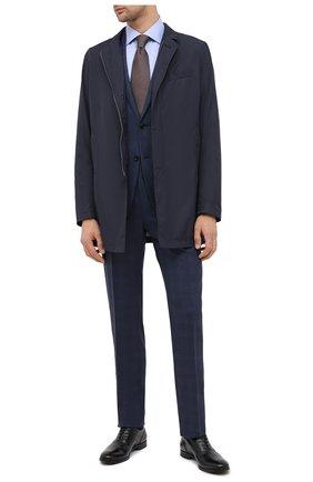 Мужская хлопковая сорочка CORNELIANI голубого цвета, арт. 86P100-0811408/00 | Фото 2