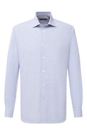 Мужская хлопковая сорочка CORNELIANI синего цвета, арт. 86P100-0811441/00 | Фото 1