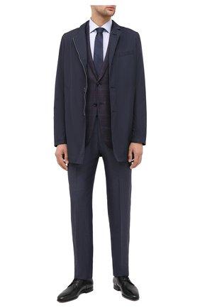 Мужская хлопковая сорочка CORNELIANI синего цвета, арт. 86P100-0811441/00 | Фото 2