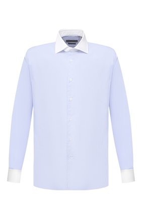 Мужская хлопковая сорочка CORNELIANI голубого цвета, арт. 86P110-0811269/00 | Фото 1