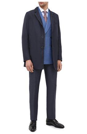 Мужская хлопковая сорочка CORNELIANI голубого цвета, арт. 86P110-0811269/00 | Фото 2