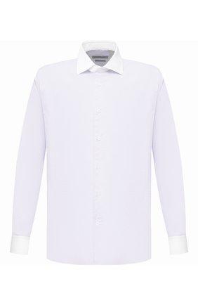 Мужская хлопковая сорочка CORNELIANI фиолетового цвета, арт. 86P110-0811269/00 | Фото 1