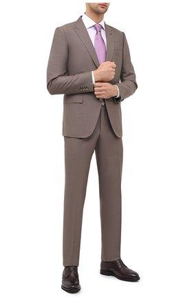Мужская хлопковая сорочка CORNELIANI фиолетового цвета, арт. 86P110-0811269/00 | Фото 2