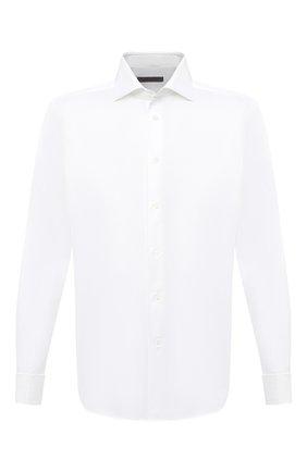 Мужская хлопковая сорочка CORNELIANI белого цвета, арт. 86P150-0811211/00 | Фото 1
