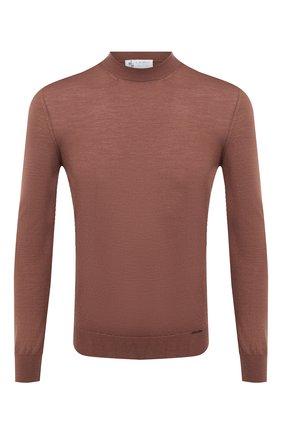 Мужской шерстяной джемпер IL BORGO CASHMERE светло-коричневого цвета, арт. 54-1206G0 | Фото 1