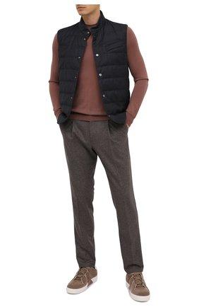 Мужской шерстяной джемпер IL BORGO CASHMERE светло-коричневого цвета, арт. 54-1206G0 | Фото 2