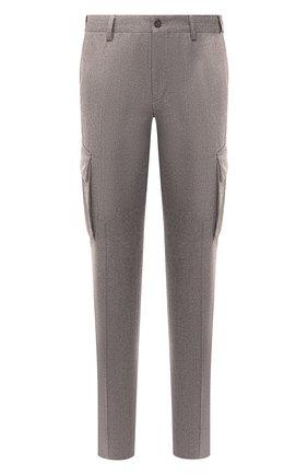 Мужские шерстяные брюки-карго CORNELIANI бежевого цвета, арт. 864L02-0818111/00 | Фото 1