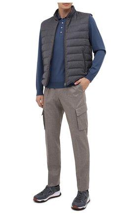 Мужские шерстяные брюки-карго CORNELIANI бежевого цвета, арт. 864L02-0818111/00 | Фото 2