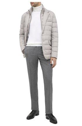 Мужские шерстяные брюки CORNELIANI темно-серого цвета, арт. 865B01-0817226/02   Фото 2