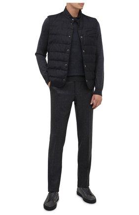 Мужские шерстяные брюки CORNELIANI темно-серого цвета, арт. 865B01-0818111/02   Фото 2