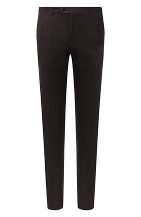 Мужские шерстяные брюки CORNELIANI коричневого цвета, арт. 865B01-0818111/02   Фото 1