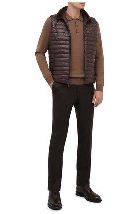 Мужские шерстяные брюки CORNELIANI коричневого цвета, арт. 865B01-0818111/02   Фото 2