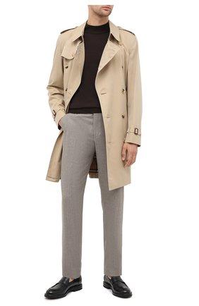 Мужские шерстяные брюки CORNELIANI бежевого цвета, арт. 865C04-0818111/02 | Фото 2