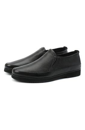 Мужские кожаные лоферы ALDO BRUE черного цвета, арт. AB8145K-MP.L.A99G | Фото 1