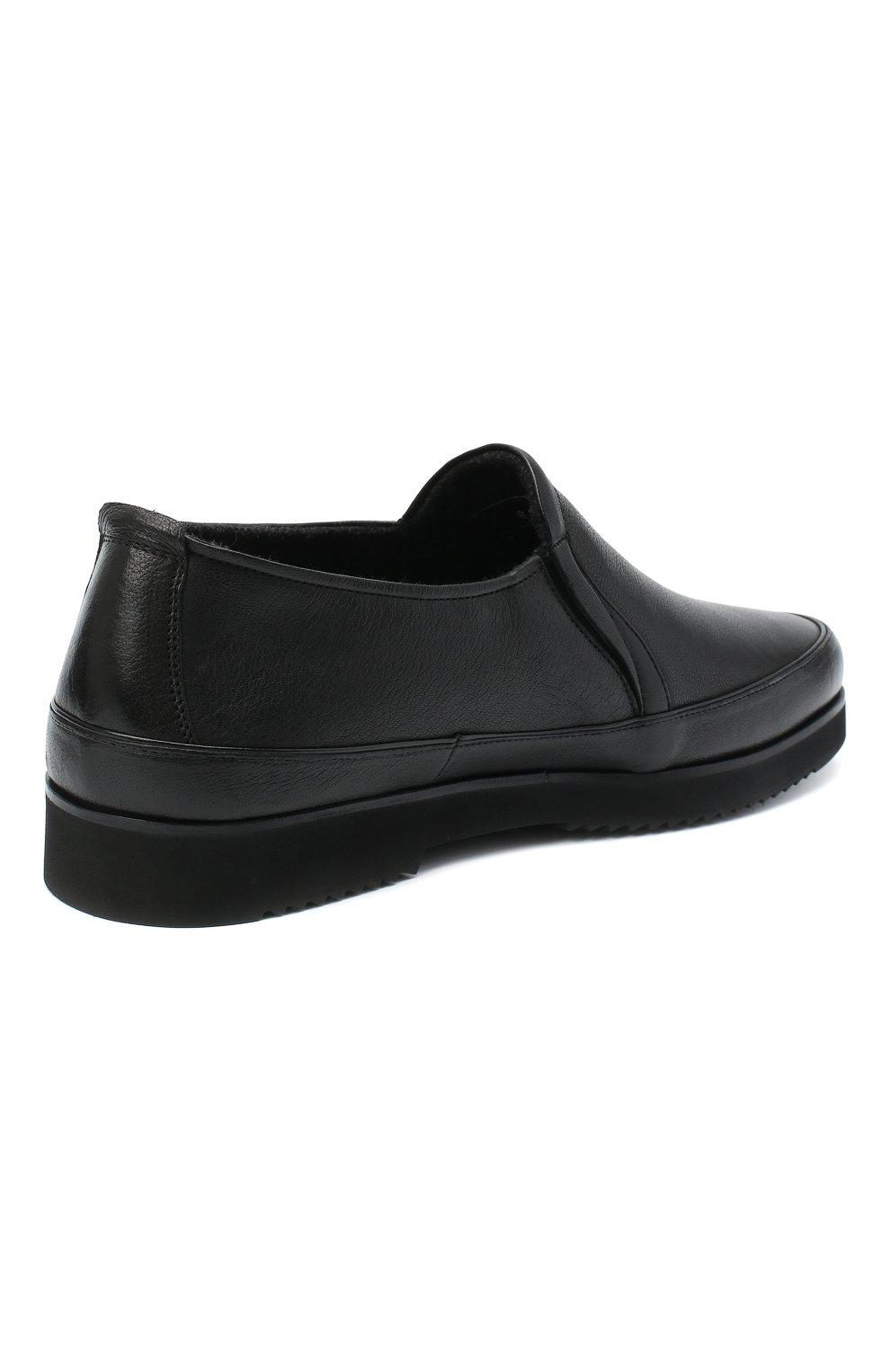 Мужские кожаные лоферы ALDO BRUE черного цвета, арт. AB8145K-MP.L.A99G | Фото 4