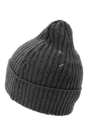 Мужская шапка из шерсти и кашемира MAISON MARGIELA темно-серого цвета, арт. S50TC0047/S17377 | Фото 2