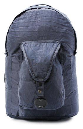 Мужской текстильный рюкзак C.P. COMPANY темно-синего цвета, арт. 09CMAC106A-005269G | Фото 1