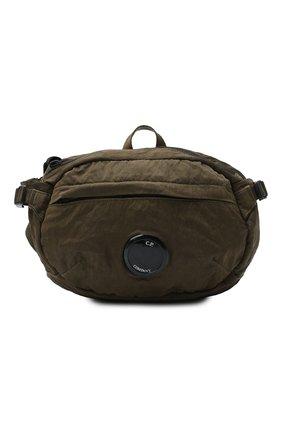 Мужская текстильная поясная сумка C.P. COMPANY хаки цвета, арт. 09CMAC108A-005269G | Фото 1
