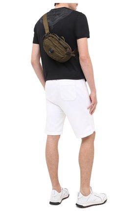 Мужская текстильная поясная сумка C.P. COMPANY хаки цвета, арт. 09CMAC108A-005269G | Фото 2