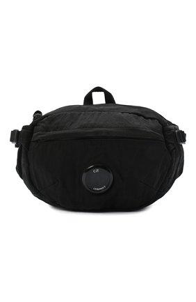 Мужская текстильная поясная сумка C.P. COMPANY черного цвета, арт. 09CMAC108A-005269G | Фото 1