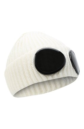 Мужская шерстяная шапка C.P. COMPANY белого цвета, арт. 09CMAC239A-005509A | Фото 1