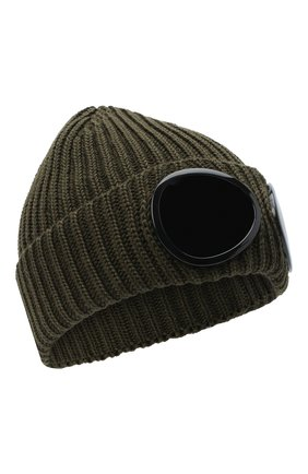 Мужская шерстяная шапка C.P. COMPANY хаки цвета, арт. 09CMAC239A-005509A | Фото 1