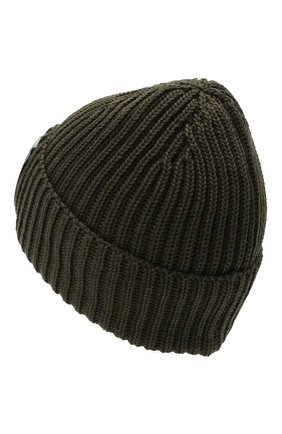 Мужская шерстяная шапка C.P. COMPANY хаки цвета, арт. 09CMAC239A-005509A | Фото 2