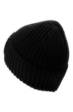 Мужская шерстяная шапка C.P. COMPANY черного цвета, арт. 09CMAC239A-005509A | Фото 2