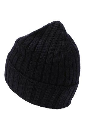 Мужская шерстяная шапка C.P. COMPANY темно-синего цвета, арт. 09CMAC240A-005509A | Фото 2
