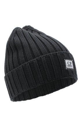Мужская шерстяная шапка C.P. COMPANY темно-серого цвета, арт. 09CMAC240A-005509A | Фото 1