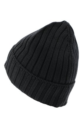 Мужская шерстяная шапка C.P. COMPANY темно-серого цвета, арт. 09CMAC240A-005509A | Фото 2