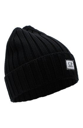 Мужская шерстяная шапка C.P. COMPANY черного цвета, арт. 09CMAC240A-005509A | Фото 1