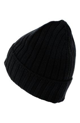 Мужская шерстяная шапка C.P. COMPANY черного цвета, арт. 09CMAC240A-005509A | Фото 2