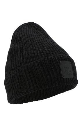 Мужская шерстяная шапка C.P. COMPANY черного цвета, арт. 09CMAC241A-005509A | Фото 1