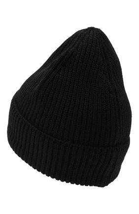 Мужская шерстяная шапка C.P. COMPANY черного цвета, арт. 09CMAC241A-005509A | Фото 2